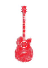 Guitars red