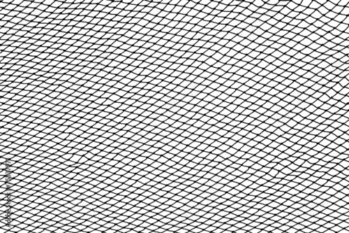 Staande foto Textures Black fishing net silhouette isolated on white