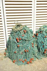 Fishing nets, port warehouse