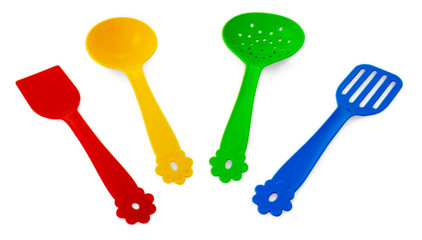 kitchen  turner, perforated turner, skimmer and  soup ladle