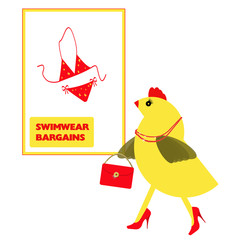 Spring Chicken searching for holiday, vacation swimwear
