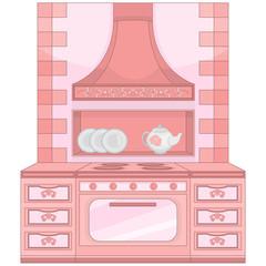 Kitchen stove in retro style