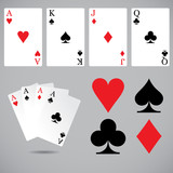 Playing cards set. Vector art.