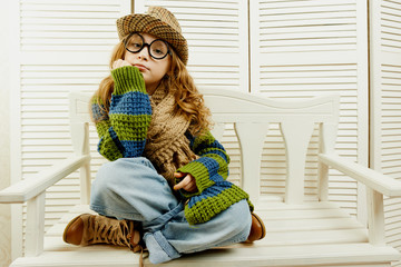 маленькая стильная девочка