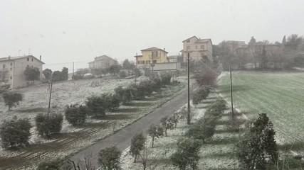Ostra Vetere, Italia - Bufera di neve