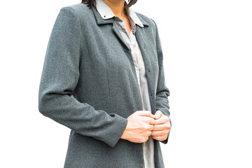 Businessman standing posture