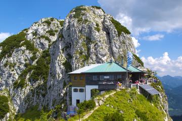 Tegernseer Hütte in den Bergen von Bayern