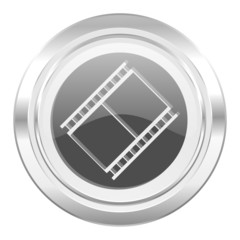 film metallic icon movie sign cinema symbol