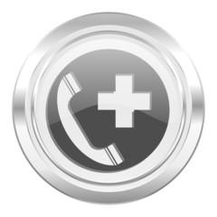 emergency call metallic icon