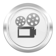 movie metallic icon cinema sign