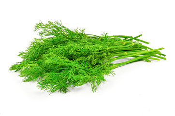 bunch dill herb isolated on white background