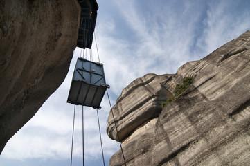Elevator for serving monastery in Meteora, Greece.