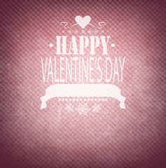 Valentine's Day Background With Title Inscription