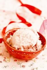 Berries and coconut ice cream