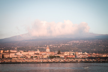 Etna from Riposto at sunrise