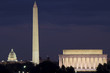 Lincoln Memorial, Monument and Capitol Building at night - 75343503