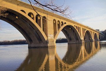 Georgetown Bridge, Washington DC over the Potomac River