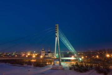 Россия. Тюмень. Мост через реку Туру.