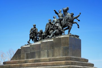 Monument of Vasily Chapaev in Samara, Russia