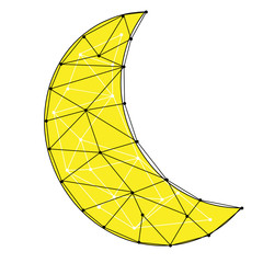 Abstract crescent moon illustration