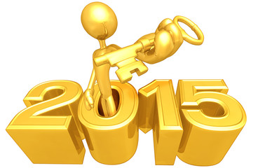 Holding A Gold Key Coming Out Of The Year