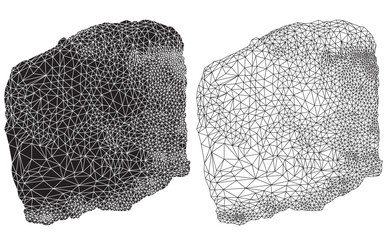 abstract delauney triangulation drawings