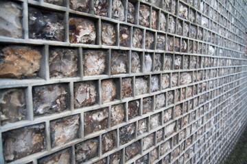 natural stone house wall closeup, Etretat, France