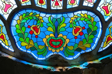 Stained Glass In Subotica, Serbia
