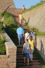 Family Trip Petrovaradin Fortress, Serbia