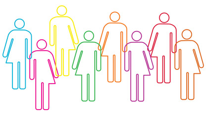transgender human diversity illustration