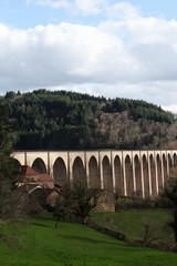 Viaduct of Mussy-sous-Dun in Burgundy, France