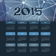 Calendar 2015 with Blue Abstract Background