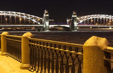 Синопская набережная и Большеохтинский мост. Санкт-Петербург