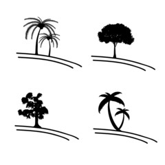 tree vector icon and symbol illustration