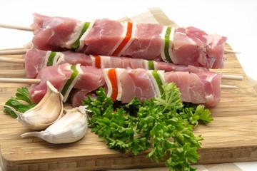 Skewers of meat