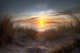 Coucher de soleil sur l'océan atlantique
