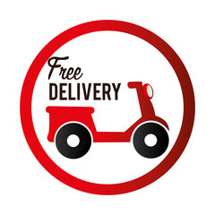 Delivery design, vector illustration.