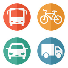 Surface transport related icons