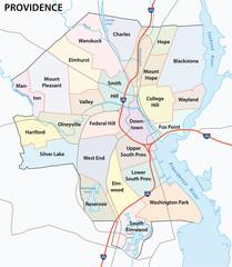 providence road and neighborhood map