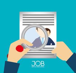Job design over blue backgroundvector illustration