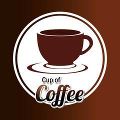 Coffee design over coffee background vector illustration