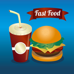 Food design over blue background vector illustration