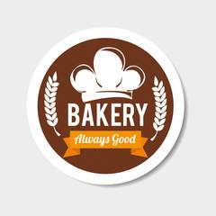 Bakery design over gray background vector illustration