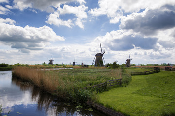 Windmill in Kinderdijk, Holland, Netherlands