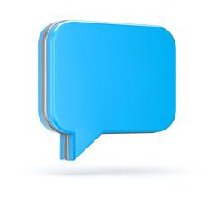 3d blue chat bubble