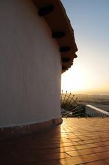 Roof At Dawn. Benalmadena, Andalusia, Spain