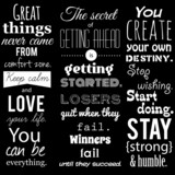 Fototapety Inspirational VECTOR quotation set.