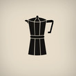 Постер, плакат: Coffee maker icon poster
