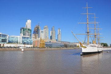 View of Puerto Madero, Buenos Aires.