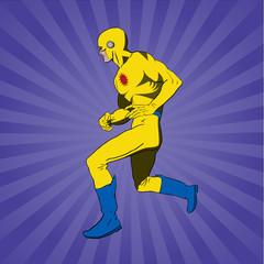 Vector Classic comic book superhero